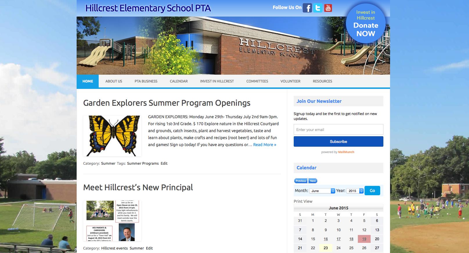 Hillcrest Elementary PTA Website